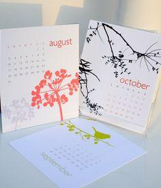 CYBER week SALE Desktop Calendar 2014 Series ONE by siskastudio