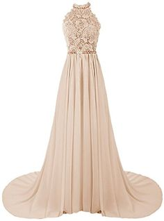 EndofMay Women's Halter Long Prom Dresses Bridesmaid Wedding Dress US-0 Champagne EndofMay http://www.amazon.com/dp/B0151HWH7A/ref=cm_sw_r_pi_dp_h9Siwb185T3EM