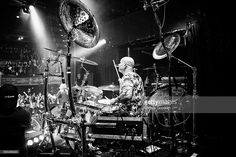 Russell Gilbrook of Uriah Heep performs on stage at Koko on March 4, 2014 in London, United Kingdom.