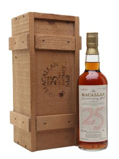 Macallan 1958 - 25 Year Old - Anniversary Malt Scotch Whisky : The Whisky Exchange Peach Drinks, Fun Drinks, Alcoholic Drinks, Scotch Whiskey, Bourbon Whiskey, Whiskey Dispenser, Crown Royal Drinks, St Patricks Day Drinks, Whiskey Cocktails
