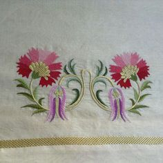 Neşe'nin gözdeleri Embroidery Motifs, Free Machine Embroidery, Hand Embroidery Designs, Ribbon Embroidery, Bargello, Stitch Design, Handicraft, Sewing Crafts, Needlework