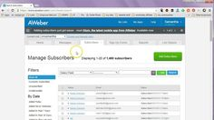How to download email list from aweber... Want to save money on your autoresponder? get 5000 subscribers for $15/mo http://autoresponder.marketwithsam.info