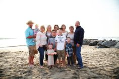 Great family picture at Newport Beach