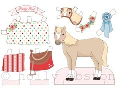 Every little girl needs a paperdoll pony! www.hollyabston.com