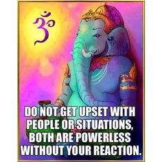 They are powerless without your reaction #namaste #om
