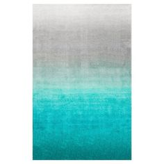 nuLOOM Ombre Shag Rug - Turquoise