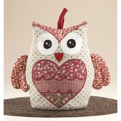 Delton Products Country Owl Door Stop * You can get additional details at the image link.how to make a door stop Owl Doorstop, Doorstop Pattern, Owl Sewing Patterns, Sewing Crafts, Sewing Projects, Owl Pillow, Owl Crafts, Door Stop, Sewing For Kids