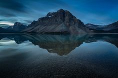 pre-dawn - Pre-dawn at Bow Lake; my favourite time of day