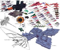 Mobile Suit Gundam - Universal Century Size Comparison Chart [Updated 7/22/13]  Here's an fan made version of battleships from the various continuities: