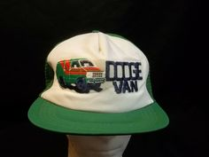 1306f24e682c2 Vintage Dodge Van Trucker Cap Hat Embroidered Mesh Snapback L to XL   AdjustATab  TruckerHat