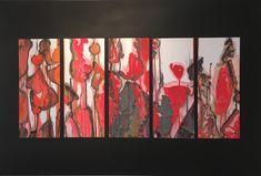 Au fil de l'O, 2018 Véronique Crittin Collages, Art Abstrait, Painting, Ink, Watercolor Painting, Paintings, Collagen, Painting Art, Painted Canvas