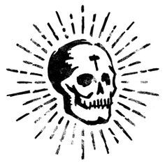 skull and glow Skull Logo, Skull Art, Graffiti, Handpoke Tattoo, Illustrations, Illustration Art, Totenkopf Tattoos, Skull And Bones, Traditional Tattoo
