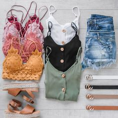 Paige Sage Button Tank Top Pack your bags, we're coming with! vacation looks that you can wear all summer long! Cute Casual Outfits, Short Outfits, Fashion Outfits, Womens Fashion, Target Outfits, Summer School Outfits, Back To School Outfits, Cute Summer Outfits, Makeup Eyes