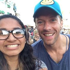 …and Chris Martin, who couldn't help but be all smiles. | Disneyland Celebrity Sightings Is The Best Celeb Instagram Account