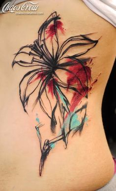 'Watercolor Lily' by Maike - Chaos Crew Tattoo Studio MünchenChaos Crew Tattoo Studio München