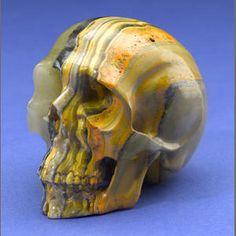 Bonhams 1793 : Bumble Bee Jasper Carved Skull