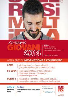 AISM, Convegno giovani 2014,logo, locandine e roll UP
