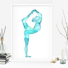 The new Yoga Collection is out!Many different poses painted in watercolor ready to be printed. Your yoga studio deserve some love and some art  Namaste.