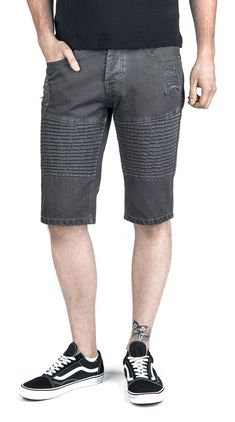 Destroyed Biker Short - Forplay - Shortsit. Biker, Shorts, Fashion, Men, Moda, Fashion Styles, Fashion Illustrations, Short Shorts, Hot Pants