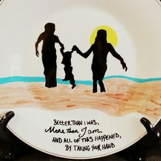 """Personalized ceramic plates """"family/mom dad plate"""" Can personalize plates, mugs, wine glasses, bowls, ornaments etc! Check out my fb page michelle's Personalized creations or my instagram michellespersonalizedcreations With more of my work! Plates are $27.99 free shipping anywhere in us! ☺ Personalized Plates, Fb Page, My Fb, Ceramic Plates, Mom And Dad, Bowls, Dads, Wine, Shit Happens"""