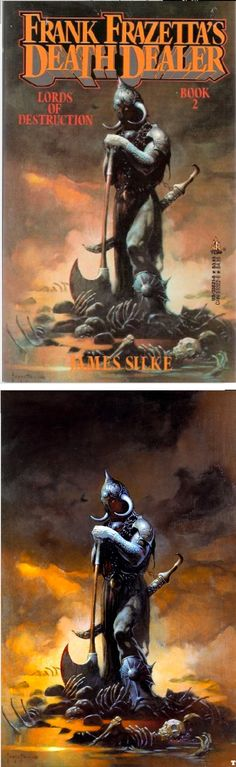 FRANK FRAZETTA - Lords of Destruction by James Silke - 1989 Tor Books - cover by isfdb - print by comicartcommunity.com
