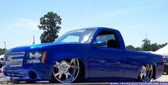 "Wild 2000 Chevy Silverado Tuckin 26"" Wheels with 07' Tahoe Front End"
