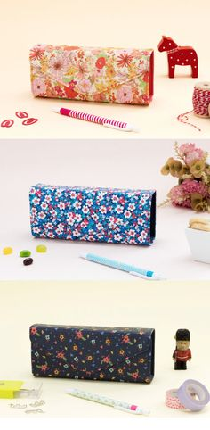 Beautiful floral pattern Square Pencil Case
