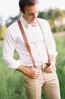 suspenders and bowtie