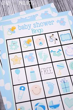 Through a Fun Baby Shower With These Free, Printable Bingo Cards: Baby Shower Bingo Cards from Crazy Little Projects