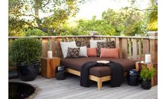 Spa Lounge 1 - Contemporary - Exterior/Patio - Photos by Urrutia Design Outdoor Spaces, Outdoor Living, Outdoor Decor, Outdoor Ideas, Decks, Spa Lounge, Lounge Seating, Patio Daybed, Outdoor Daybed