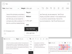 CMS Text Editor designed by Justin Floyd for HQ. Ui Components, Site Design, Ux Design, Web Design Quotes, Text Editor, Flat Ui, Text Fonts, Web Design Inspiration, User Interface