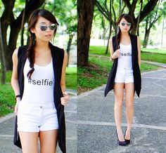 Wagw Vest, Maris Tank Kryz Uy, Ripped Jeans, Skinny Jeans, Pastel Hair, Summer Outfits, Summer Clothes, Personal Style, Ready To Wear, Leather Jacket
