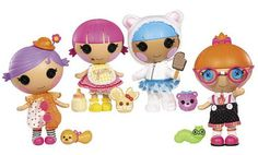 Lalaloopsy, Gabriel has 2 of these boy dolls, so cute they will steal your heart away.  I don't care what anyone says, reseach proves boys that have dolls will make better fathers.  My daughter-in-law will thank me one day.   Lol