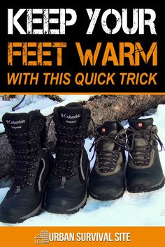 A simple and easy way to keep your feet warming in the winter that only costs a few dollars (if that). Watch this video to see how it's done. Survival Bags, Survival Items, Urban Survival, Homestead Survival, Survival Food, Wilderness Survival, Survival Guide, Survival Skills, Emergency Preparedness Kit