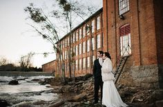 A Glamorous-Meets-Industrial Winter Wedding in Georgia