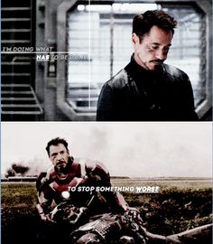 """Tony's whole motivation in """"Civil War"""" is to try to stop somethintg worse from happening -- something he knows is coming."""