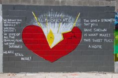 Great Christchurch mural - stay strong, Cantabrians!