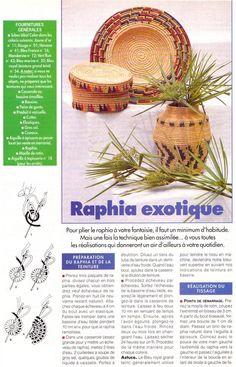 [Raphia] Le pot, la boîte et le plat en raphia - La Boutique du Tricot et des Loisirs Créatifs