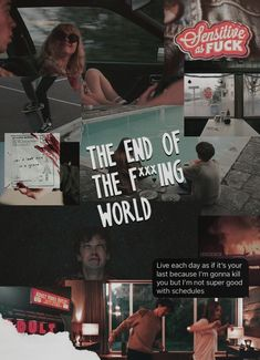 The End of the F***ing World Collage Fernsehserie Shows On Netflix, Netflix Series, Series Movies, The End, End Of The World, Ing Words, World Wallpaper, Bon Film, World Quotes