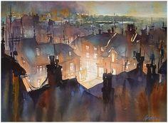 "Thomas W Schaller: ""Rooftops of Rye"""