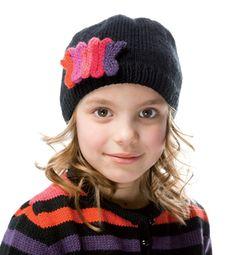 Modèle bonnet motif tricotin