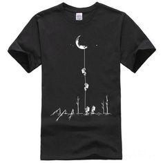 Men Graphic T-Shirt Color : Black,white,gray Material: Cotton Size: S, M, L, XL, XXL