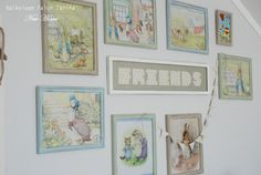 Peter Rabbit pictures Peter Rabbit Pictures, Little Boys, Gallery Wall, Frame, Room, Home Decor, Homemade Home Decor, A Frame, Rooms