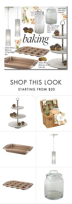 """Let's Get Baking!"" by beebeely-look ❤ liked on Polyvore featuring interior, interiors, interior design, home, home decor, interior decorating, kitchen, homedecor, baking and lampsplus"