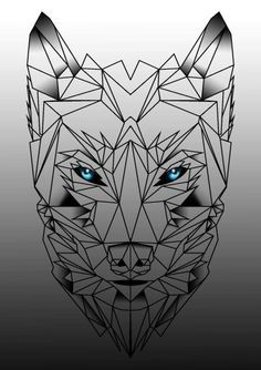 geometric wolf tattoo - Google Search                                                                                                                                                                                 More