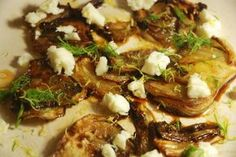 Hinojo caramelizado con queso de cabra - Cocina Central