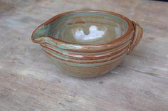 Stoneware Batter Bowl 2 cup rustic ceramic by JenniferBurkePottery, $25.00