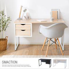 Home Office White Desk, Ikea Home Office, Small Space Office, White Desks, Bedroom Desk, Bedroom Furniture Design, Home Decor Bedroom, Study Room Decor, Teen Room Decor