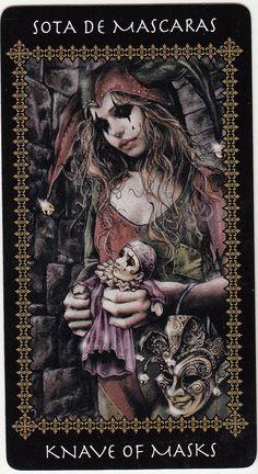 Knave of Masks (Victoria Frances Tarot card) | Victoria Fran… | Flickr