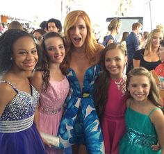 The 4 girls meeting Bella Thorne at the TCAs